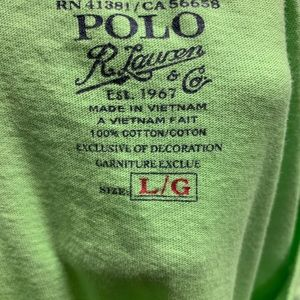 Polo by Ralph Lauren Shirts - Polo Ralph Lauren Mens Tee Bright Green Large